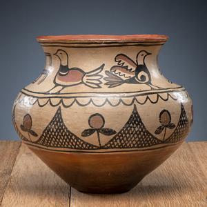 San Ildefonso Polychrome Pottery Jar