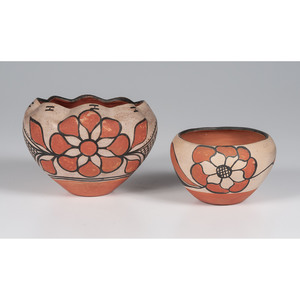 Kewa Polychrome Pottery Jars