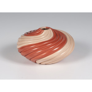 Marcella Yepa (Jemez, b. 1964) Swirling Pottery Bowl