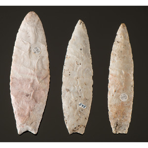 Three Paleo Lances, From the Collection of Richard Bourn, Sr., Old Saybrook, Connecticut