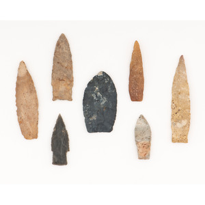 Miscellaneous Paleo Points, From the Collection of Richard Bourn, Sr., Old Saybrook, Connecticut
