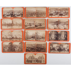 Lot of Thirteen Stereoviews of the American West by Watkins, Houseworth, and Reilly