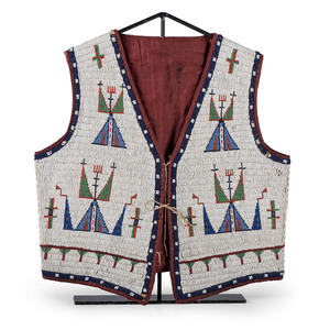 Sioux Beaded Hide Vest