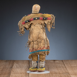 Southern Cheyenne / Arapaho Beaded Hide Doll