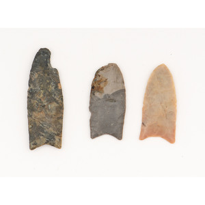 Three Clovis Points,  From the Collection of Jon Anspaugh, Wapakoneta, Ohio