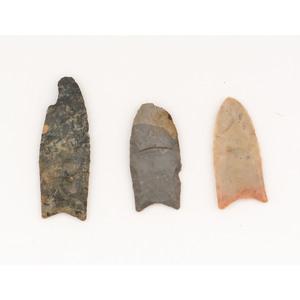 Three Clovis Points,  From the Collection of Jon Anspaugh, Wapakoneta, Ohio