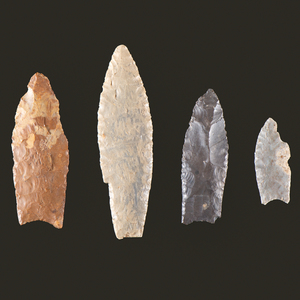 Four Paleo Points, From the Collection of Jon Anspaugh, Wapakoneta, Ohio