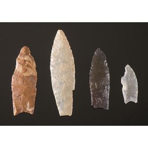 Four Paleo Points, From the Collection of Jon Anspaugh, Wapakoneta, Ohio