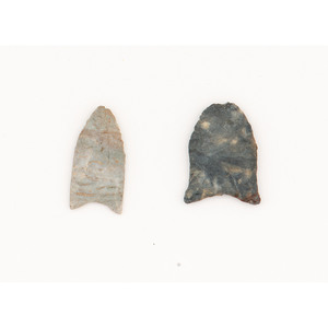Two Miniature Clovis Points, From the Collection of Jon Anspaugh, Wapakoneta, Ohio