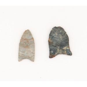 Two Miniature Clovis Points, From the Collection of Jon Anspaugh, Wapakoneta, Ohio