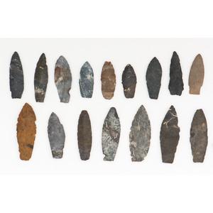 Frame of Paleo Lances,  From the Collection of Jon Anspaugh, Wapakoneta, Ohio