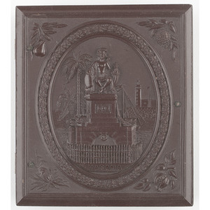 Very Rare Union Case, The Indian Monument, Havana, Cuba [Berg 1-60/1-61]