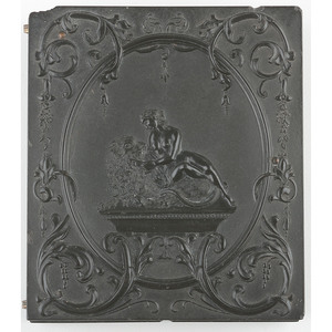 Very Rare Sixth Plate Union Case, The Amorous Lion [Berg 1-82]