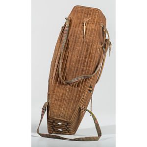 Salish Child's Imbricated Cradle, Property of a Private Midwest Museum