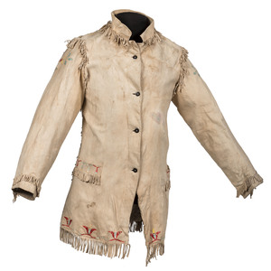 Northern Plains Quilled Hide Jacket, Property of a Private Midwest Museum