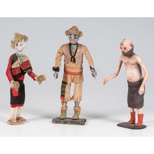 Duane Dishta (Zuni, 1946-2011) Ahe'a, Nahalish' Domda Caynona, AND Koyemsi, From The Harriet and Seymour Koenig Collection, NY