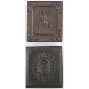 Two Rare Sixth Plate Union Cases, Stealing the Bird's Egg [Berg 1-102] and Highland Chief [Berg 1-108], with Daguerreotypes