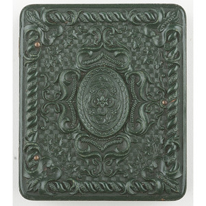Very Very Rare Green Ninth Plate Geometric Union Case Containing Tintype of Baby [Berg 3-274a]
