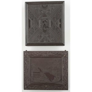 Two Rare Sixth Plate Union Cases, Daguerreian Gallery [Berg 1-118] and Country Home [Berg 1-126]