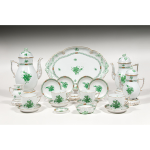 Herend Tea Accessories, Chinese Bouquet Green, Plus