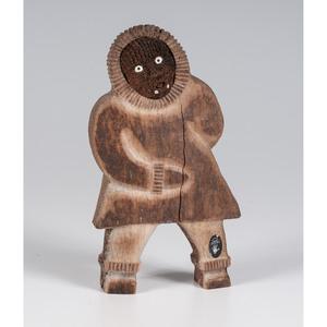 Alaskan Eskimo Whale Bone Figural Sculpture