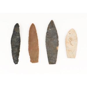Four Paleo Lances,  From the Collection of Jon Anspaugh, Wapakoneta, Ohio