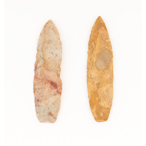 Two Paleo Lances,  From the Collection of Jon Anspaugh, Wapakoneta, Ohio