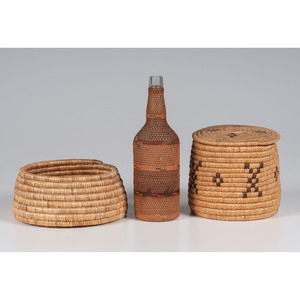 Alaskan Eskimo and Tlingit Baskets
