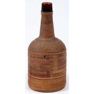 Tlingit Basketry Wrapped Bottle