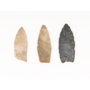 Three Paleo Points, From the Collection of Jon Anspaugh, Wapakoneta, Ohio