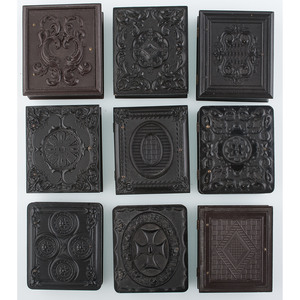 Nine Ninth Plate Union Cases Containing Images of Children [Berg 3-235, 3-242, 3-247, 3-257, 3-331, 3-343, 3-350, 3-363, 3-601]