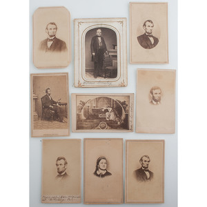 Fine Collection of Abraham Lincoln CDVs, Incl. Pose by Brady Studio, Plus