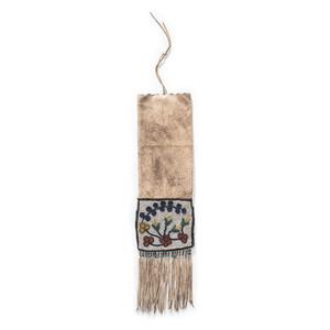 Blackfeet Beaded Hide Tobacco Bag