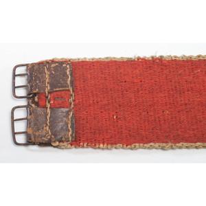 Delaware / Ottawa Black-Tanned Hide Bag and Wool Belt