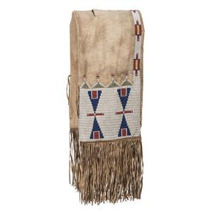 Cheyenne Beaded Hide Saddle Bags
