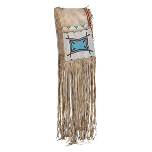Sioux Beaded Hide Saddle Bags