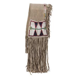 Ute Beaded Hide Saddle Blankets