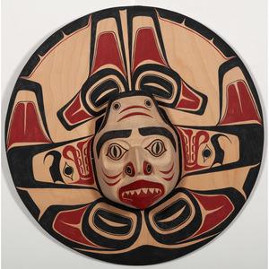 Fearon Smith, Jr., Tsungani (Kwakwaka'wakw, 20th century) Carved Wood Mask