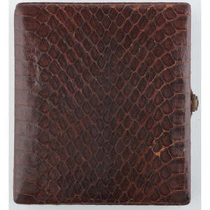 Unique Sixth Plate Snake Skin Case Containing Daguerreotype [Berg 6-153]