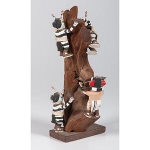 Hopi Koshare AND Chaveyo Tree Climbing Katsinas, From The Harriet and Seymour Koenig Collection, NY