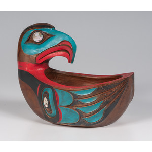 Ivan Otterlifter (Cherokee, 1936-1999) Carved Wood Bowl
