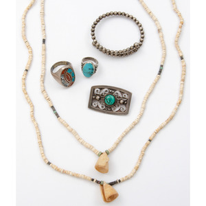 A Grouping of Southwestern and Mexican Jewelry, Deaccessioned From the Hopewell Museum, Hopewell, NJ