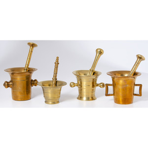 Brass Mortars and Pestles