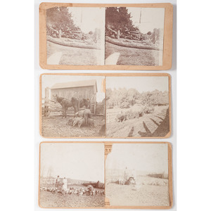 Trio of Missouri Stereoviews, Including 2 Double-Sided Views