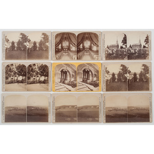 Large Group of Pennsylvania Stereoviews, Most by Clauder and Kleckner of Bethlehem, PA