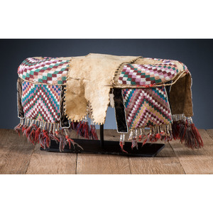 Plains Cree Beaded Hide Pad Saddle