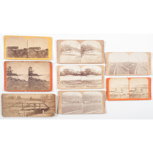 Extensive Collection of Stereoviews of the United States, Incl. a Number of Niagara Falls, New York, Midwestern, and Western Views