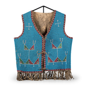 Sioux Beaded Buffalo Hide Vest