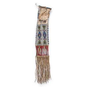 Sioux Beaded and Quilled Hide Tobacco Bag