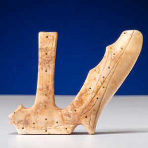Punuk Culture Walrus Ivory Winged Object